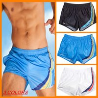 Cheap Wholesale-men quick-dry waterproof Smooth fabric surfing brand sexy man swimming trunks swimwear beach board mens Gym running shorts