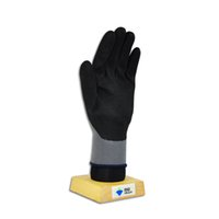 Wholesale 1416 Black frosted nitrile coated gloves