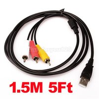 Wholesale USB to RCA USB Type A Male to RCA AV LCD TV Adapter Lead Cable