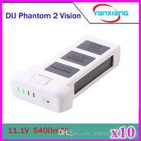 Wholesale 10pcs DJI Phantom Battery Replacement DJI Smart Battery V mah C Battery for DJI Phantom Vision DJI Phantom Vision ZY DJI