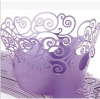 cupcake cake boxes - Personalized Laser Cut Hollow Cupcake Wrapper Cake Liners Decorating Boxes Cup Tools Craft Supplies For Wedding Favor Birthday Decorations