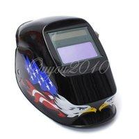 Wholesale New Portable Solar Auto Darkening Welding Helmet ARC TIG MIG For Welder Machine Grinding Mask Helmet