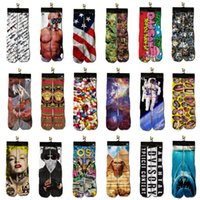 Cheap 3D Socks Men Women Hip Hop Cotton socks Sports Street Skateboard Printed Tiger Skull Odd Cool 3d Sockings Hosiery Special Designs 10 pairs