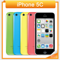 Wholesale 100 Factory Original Unlocked Apple Iphone c Smartphone quot Dual Core WCDMA IOS Multi Language16GB GB optional Dual Core