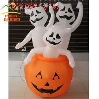 airblown pumpkin - Gemmy Airblown Inflatable Pumpkin amp Scary Ghosts Ft Halloween Lawn Decor
