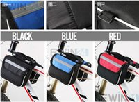 Wholesale Brand new and high quality Double Saddle Bag Mountain Road Bike Bicycle Front Tube Bags