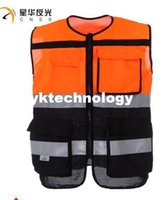 Wholesale SPEC MESH Motorcycle Motorbike Bike Racing High Visible Reflective Warning Vest Traffic Safety Slothing Two Color