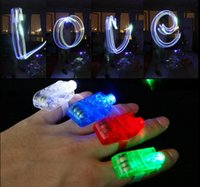Wholesale LED Finger Lamp LED Finger Ring Lights Glow Laser Finger Beams LED Flashing Ring Party Flash Kid Toys Colors