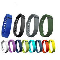 Wholesale 2015 New Arrival Replacement Rubber Band Fitbit Flex Wireless Activity Bracelet Wristband With Metal Clasp No Tracker