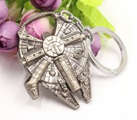 Wholesale Star Wars keychains fashion Star Wars Millennium Falcon Metal Alloy Bottle Opener movie keyring jewelry gift