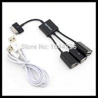 Cheap Wholesale camera connection kit 3 in 1 USB OTG Host Hub Cable Adapter For Samsung Galaxy note Tab 10.1 P7510 P5100 P3100 N8010