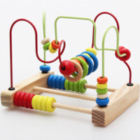 baby imagination - Baby Toys Imagination Bead Maze With Mirror Classic Mirror Beads Maze Educational Montessori Wooden Toys Birthday Gift DT227