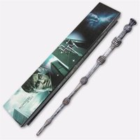 Wholesale 18 models Harry Potter Magic Wand Hermione Voldemort Dumbledore Magic Magical Wand Cosplay staves Wands With gift box