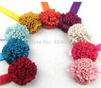 Wholesale colors New Beautiful Big Flower Headband Hairband Baby Girls Headbands Hair Accessories Gift