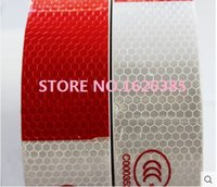 Wholesale High quality x36M Safety Red Silver Reflective Tape Self Adhesive For Truck Carpark Warning Tape High Visibility