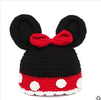 Unisex baby beanie crochet pattern - Baby Girls Caps Cartoon Pattern Dot Bow Baby Beanie Hats Caps For Girl Crochet New Fashion Children s Hats Hot Sale TZH207