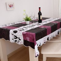 pvc table cloth - High Quality cm PVC Table Cloth Plastic Waterproof Oil Dining Tablecloth Coffee Printed Table Cover Overlay