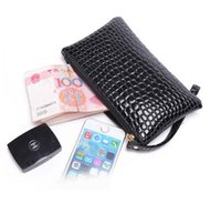Wholesale Luxury Designer CROCO PU Leather Wallets for Women Evening clutch bags purses ladies handbags Party bags