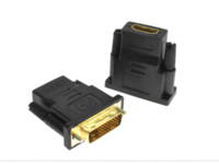 Wholesale High quality DVI D Dual link Male to HDMI Female Adapter HDMI to DVI Gold Connector for HDTV
