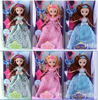 Cheap Princess Sofia Dolls 9 inch Sofia the First Toy Doll Action Figures Vinyl Sofia Doll Cartoon Toy Kids Gift Doll Toy Vinyl Doll LJJE154 72pc