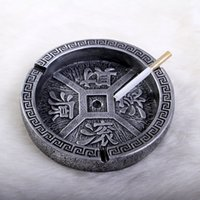 Wholesale Spot mixed batch of retro colored round ashtray extra cash business gifts ornaments decorations SF315
