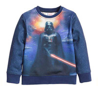Wholesale Star Wars Kids Fleece Darth Vader with Lightsaber auturm winter Star Wars Clothes for Children Gifts new arrival