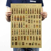 american art history - Beer encyclopedia of graphic evolutionary history Bar counter adornment kitchen retro vintage poster paper posters wall sticker