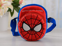 Wholesale spiderman bag Children s cartoon plush bag diagonal packet children s birthday gift