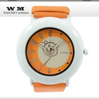 Bastante señora reloj de goma de cinturón naranja cinturón de color oscuro relojes relojes pequeños de la vendimia Lady relojes elegantes WA0530X