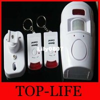 Wholesale 8013 Home Security PIR Motion Sensor IR Infrared Alarm with Remote Control With Retail package
