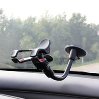 Wholesale Universal Phone Holder Car Roating Windshield Smartphone Mount Bracket for iPhone S4 Mobile GPS Navigation DVR