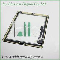 Wholesale Tested Black Touch Screen Glass Digitizer Assembly for iPad With Home Button Button Flex M Adhesive Sticker Free Ship