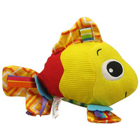 Wholesale 1pcs Baby mobiles feel me fish animal toy baby rattle toys kid Hand grasp bell bed soft Plush Toys babies mobile toy gift