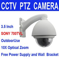 high speed camera - High Quality Sony CCD TVL X ZOOM Waterproof Outdoor Mini Middle Speed Dome PTZ CCTV Security Camera