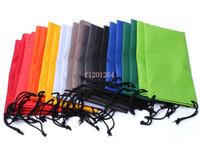 achat en gros de verres sachets souples-Livraison gratuite durables des lunettes de soleil en plastique étanche à la poussière pochette lunettes molles sac étui à lunettes Lunettes accessoires 20pcs / lot