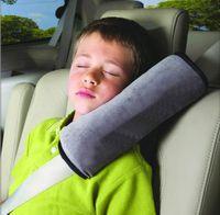 Wholesale Support Pillow Shoulder Pad Car Soft Seat Belt Shoulder Pad for Children Kids Grey By Registered Air Mail