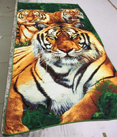 Polyester / Cotton bath towel fabric - printed anminal bath towel beach towel cm microfiber fabric towelcloth dry quickly hair tiger dolphins women