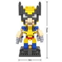 best wolverine - LOZ Big gift box Wolverine cartoon block Best Gift For kids LOZ Diamond Blocks Loz d Blocks Toys birthday for boys girls
