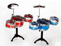 kids toys - 8 colors Kids Jazz Drum Toys Musical Instrument Set Children Percussion Beating Music Toys Band Drum Education Toys