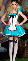 adult tea party - Alice Adult Costume R1280 sexy cheap Lovely Sexy Costumes Women Halloween Adult Tea Party Alice Costume