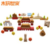baby impressions - educational wooden toy impression Beijing blocks D puzzle Beijing Countryard Buidling DIY Jigsaw Toy Infants Baby Kids Developmental Toy