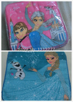 Wholesale New Blue pink Frozen Elsa Anna Square Hand Towel Face Towels Party Kids Gifts