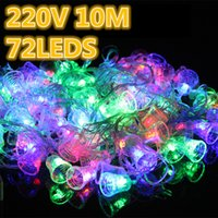 bell connectors - party m leds waterproof Garland LED Christmas bell string lights including EU plug connector and controller V