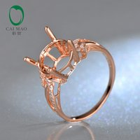 rose gold ring semi mount round - kt Rose Gold mm Round Cut Diamond Engagement Semi Mount Ring For Anniverary