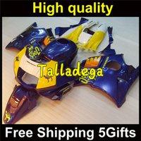 Cheap Plastic Body Fairing Kit Set For HONDA CBR600F2 CBR600 CBR 600 F2 1991 1992 1993 1994 91 92 93 94 Blue Yellow HR-432