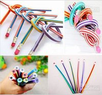 stationery and office supplies - Novelty Gift Pen For Kids Funny cm Bendable Flexible Soft Pencil With Eraser Toys Gifts Student Prize Stationery And Office Supplies