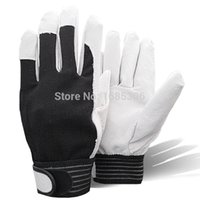 coated gloves - Hot product pigskin leather working glove welding coat leather gardening glove mechanic work gloves BK