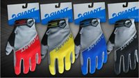 Wholesale Giant Cycling Bike Bicycle gloves Nylon Winter Warm sports Full Finger gloves color M L XL