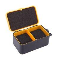 Cheap Double Layer 10 * 6 * 4.8 cm Fishing Tackle Box Multifunction Baits Earthworm Worm Lure Carp Fishing Box Plastic Storage Case