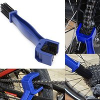 Wholesale New Blue Motorcycle Gear Chain Brush Convenient Bike Cleaning Tool Brake Cycle Dirt Mud Fast Remover